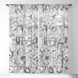 Ahegao classic Sheer Curtain