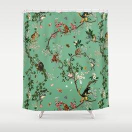 Monkey World Green Shower Curtain
