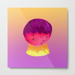 Mystical Crystal Ball for Fortune Telling with Yellow Magenta Gradient Metal Print
