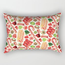 Christmas Candy Pattern Rectangular Pillow