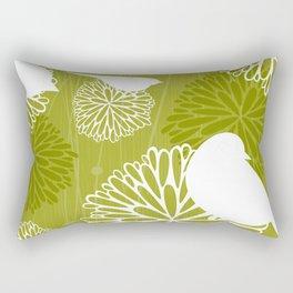 Pom Poms & Birds in Green by Friztin Rectangular Pillow