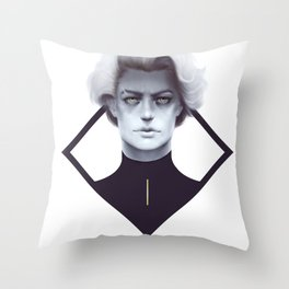 Gold and Gloom Throw Pillow