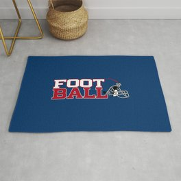 Football in Blue and Red Rug
