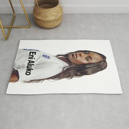 the best player football woman Rug