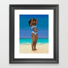 Korra at the Beach Framed Art Print