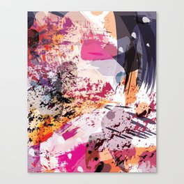 7: a vibrant abstract in jewel tones Canvas Print
