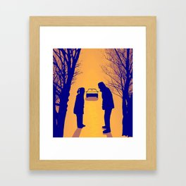 Fox Mulder and Dana Scully We lost 9 minutes Framed Art Print
