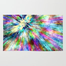 Colorful Tie Dye Watercolor Rug
