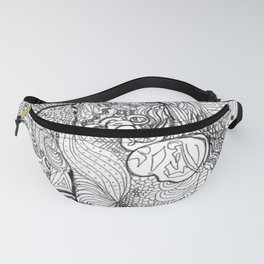 Girl Blowing Bubbles Fanny Pack