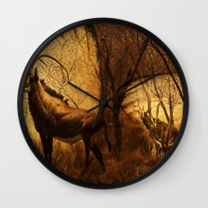 Diorama :: Antelope Wall Clock