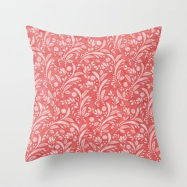 Floral Pattern in Velvet Texture Throw Pillow