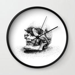 Skull Stippling Wall Clock