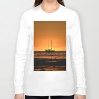 sailboat Long Sleeve T-shirts featuring Sailboat  by Galina's photography.