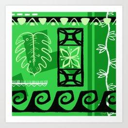 Hawaiian Pattern #1 - green! Art Print