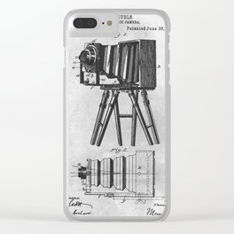 1885 Photographic camera Clear iPhone Case