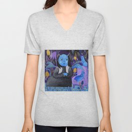MOON'S GIRL Unisex V-Neck