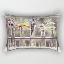 Windowsill Flowers Rectangular Pillow