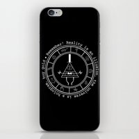 bill cipher iPhone & iPod Skins featuring Bill Cipher - Dark by Flora
