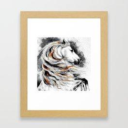 Dark Beauty Horse Framed Art Print
