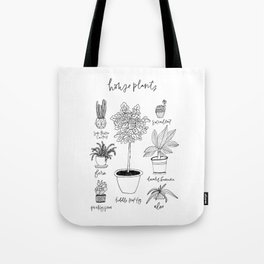 House Plants Print Tote Bag