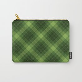 Green Plaid Pattern Carry-All Pouch