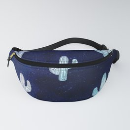 Cactus bloom - midnight blue Fanny Pack