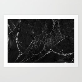 Black Marble Print II Art Print