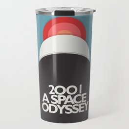 2001 a Space Odyssey - Stanley Kubrick, minimal movie poster, rétro film playbill, sci-fi Travel Mug