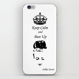 Keep Calm - Get Your Bun Up iPhone Skin