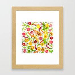 Fruits and vegetables pattern (31) Framed Art Print