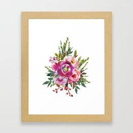 Christmas Floral Bouquet Framed Art Print