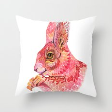 The squirrel magic  Throw Pillow