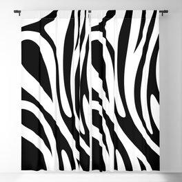 Black N' White Illusion Zebra Stripes Blackout Curtain