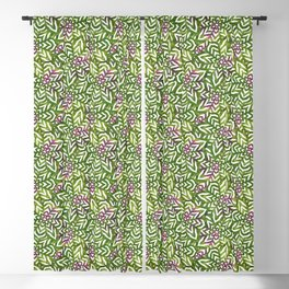 I don't need to improve - Green and pink Blackout Curtain