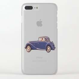 Vintage Car Oil Painting Clear iPhone Case