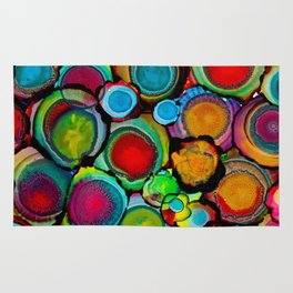Conscious Overlap (Alcohol Inks Series 03) Rug