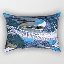 Dolphin Fun tetkaART Rectangular Pillow