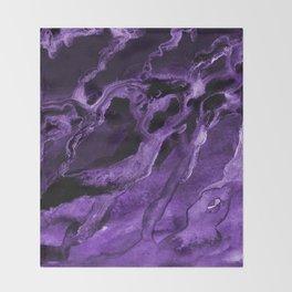 Purple watercolor abstract no.dd1708331p Throw Blanket