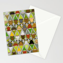 Gnome International! Green palette. Gnomes from all over the world Stationery Cards