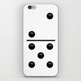 White Domino / Domino Blanco iPhone Skin