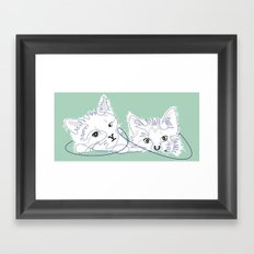 mint kittens 01 Framed Art Print