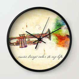 Music Brings Color to My Life Wall Clock