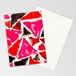 Red Pink Triangle Stationery Cards