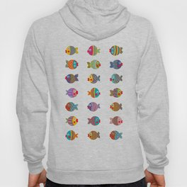 Fish Collection Brightly Colored Hoody