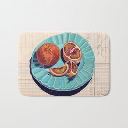 Blood Oranges in Gouache Bath Mat