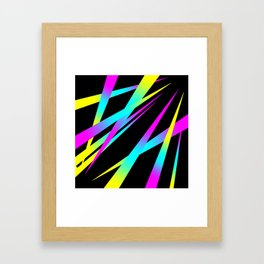 Spikes CYMK (black) Framed Art Print