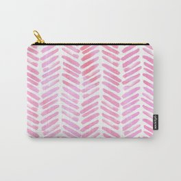 Handpainted Chevron pattern - pink and pink ;) Carry-All Pouch