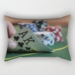 Blackjack Rectangular Pillow