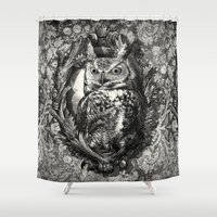 eric fan Shower Curtains featuring Nightwatch - by Eric Fan and Garima Dhawan  by Eric Fan