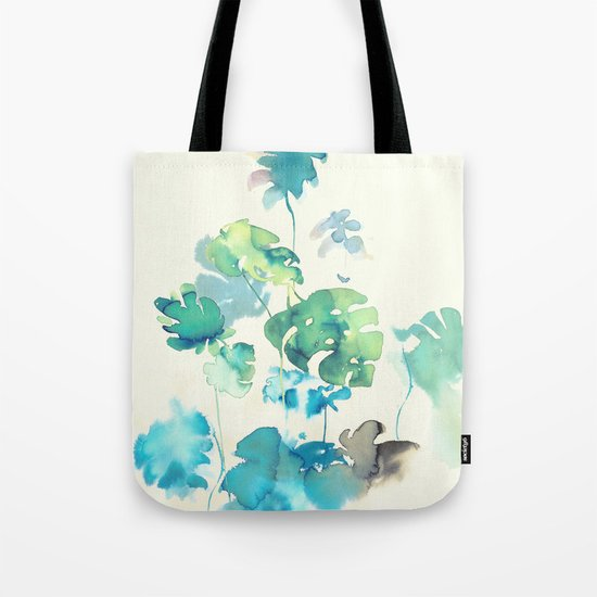 Tropical Leaves Collab. Dylan Silva Tote Bag